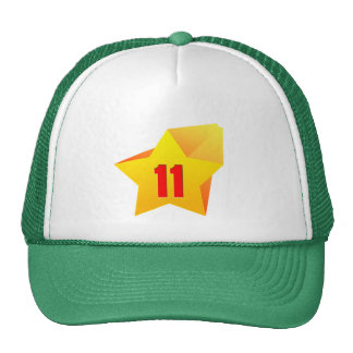 All Star Eleven years old Birthday Mesh Hats