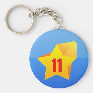 All Star Eleven years old Birthday Keychain