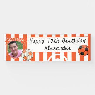 All Star Occasion Soccer Banner - Orange
