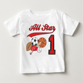 All Star Sports 1st Birthday Baby T-Shirt