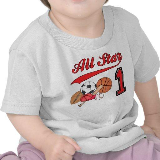 All Star Sports 1st Birthday Shirt