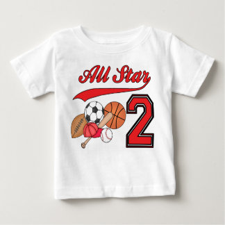 All Star Sports 2nd Birthday Tee Shirt