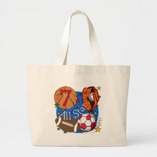 All Star Sports 7th Birthday Tshirts and Gifts Jumbo Tote Bag