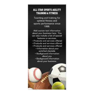 All Star Sports Balls w/ Brick Wall Rack Card