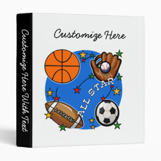 All Star Sports Tshirts and Gifts Vinyl Binder