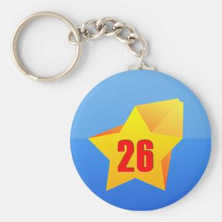 All Star Twenty Six years old! Birthday Keychain