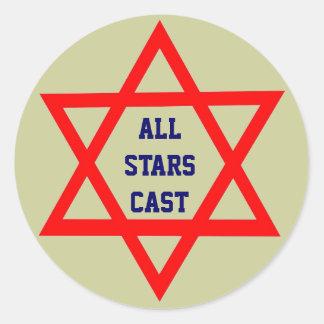 All Stars Cast round sticker