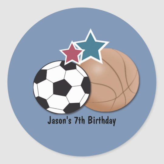 All stars Sports Envelope Seals Party Favours