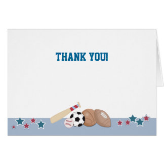 All Stars Sports Folded Thank you note Card