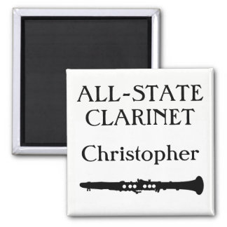 All-State Clarinet (customize name) Square Magnet
