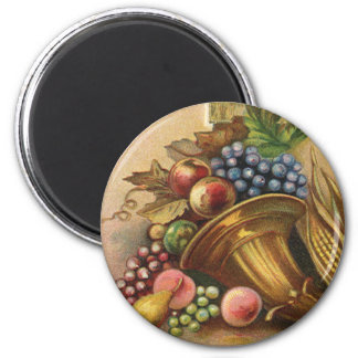 All Thanksgiving Bounty Be Thine 2 Inch Round Magnet