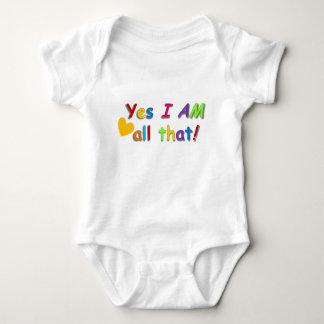 """""""All That"""" baby onesy Baby Bodysuit"""
