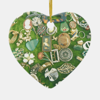 All That Glitters Ceramic Heart Ornament
