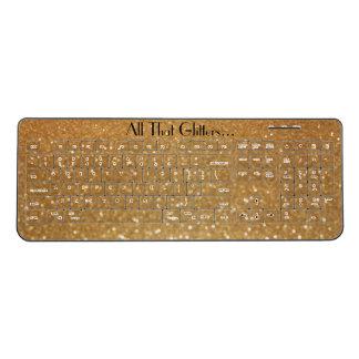 All That Glitters Wireless Keyboard