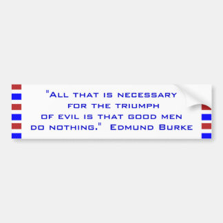 All that is necessary  for the triumph  of evil bumper sticker
