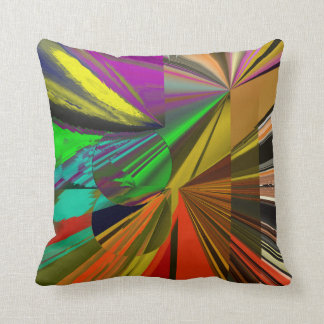 All That Jazz Abstract Reverse Coordinated Stripes Throw Pillow