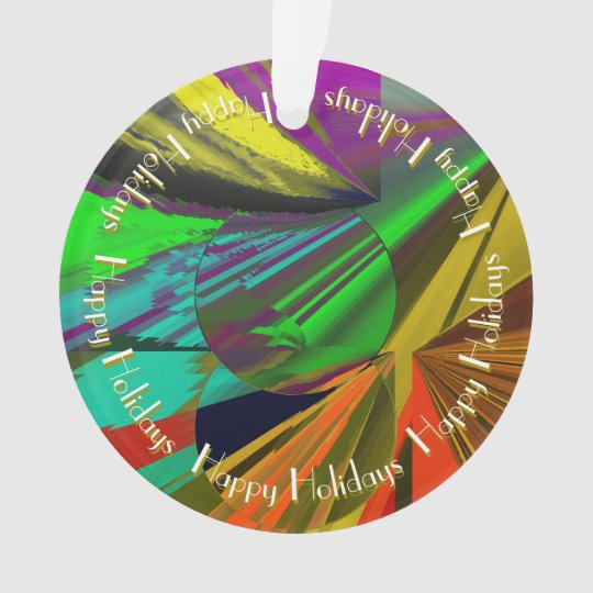 All That Jazz - Colourful Abstract Design Ornament