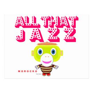 All That Jazz-Cute Monkey-Morocko Postcard