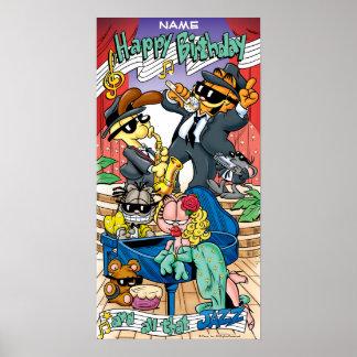 """All That Jazz"" Garfield Birthday Poster"