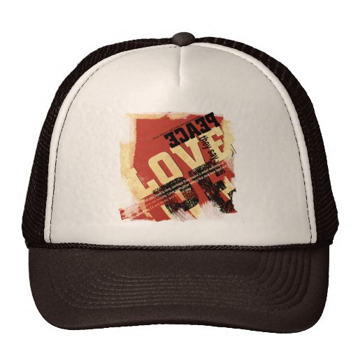 All That Peace and Love Mesh Hat