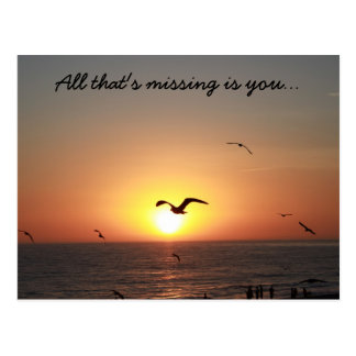 All that's missing is you... postcard