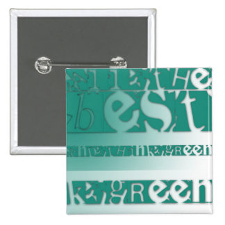 All the best - Think Green 2 Inch Square Button