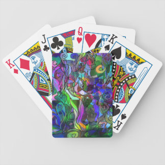 All the Colors with Swirls and Lines Bicycle Playing Cards