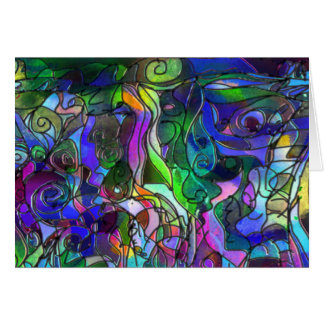 All the Colors with Swirls and Lines Card
