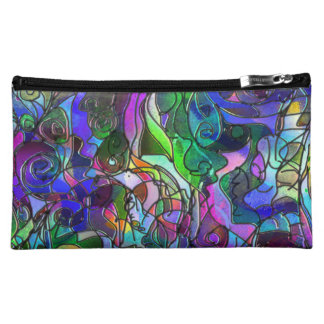 All the Colors with Swirls and Lines Makeup Bag