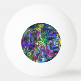 All the Colors with Swirls and Lines Ping Pong Ball