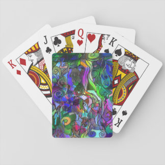 All the Colors with Swirls and Lines Playing Cards