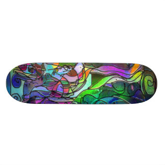 All the Colors with Swirls and Lines Skate Decks