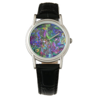 All the Colors with Swirls and Lines Watch