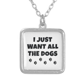 All The Dogs Silver Plated Necklace
