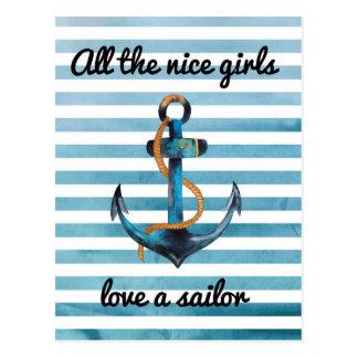 All the nice girls love a sailor postcard