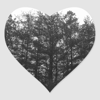 All the Numbness of a Perpetual Winter Heart Sticker