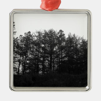 All the Numbness of a Perpetual Winter Silver-Colored Square Ornament