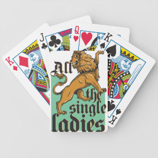 all the single ladies, vintage lion bicycle playing cards