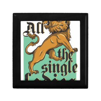 all the single ladies, vintage lion gift box
