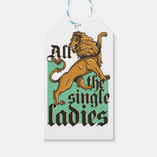 all the single ladies, vintage lion gift tags