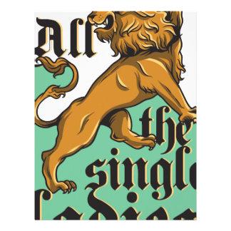 all the single ladies, vintage lion letterhead