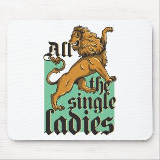 all the single ladies, vintage lion mouse pad