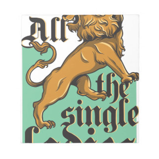 all the single ladies, vintage lion notepad