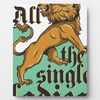 all the single ladies, vintage lion plaque