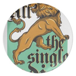all the single ladies, vintage lion plate