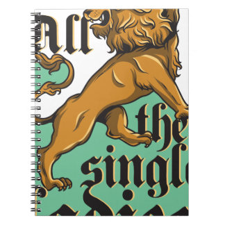 all the single ladies, vintage lion spiral notebook
