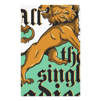 all the single ladies, vintage lion stationery