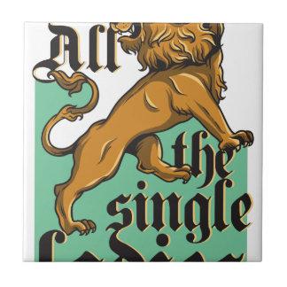 all the single ladies, vintage lion tile