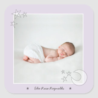 ALL THE STARS IN THE SKY-VIOLET SQUARE STICKER