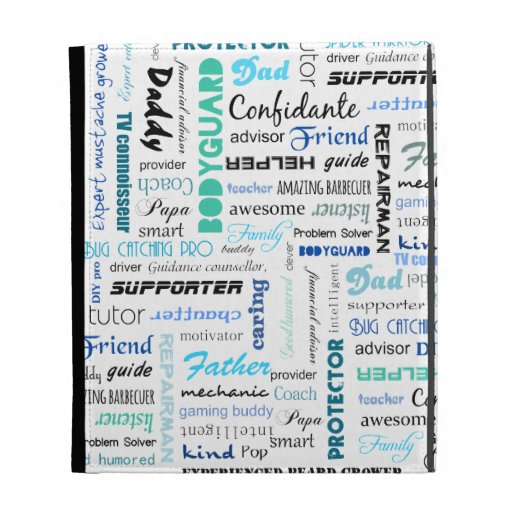 All the things a dad is to me typography iPad folio covers